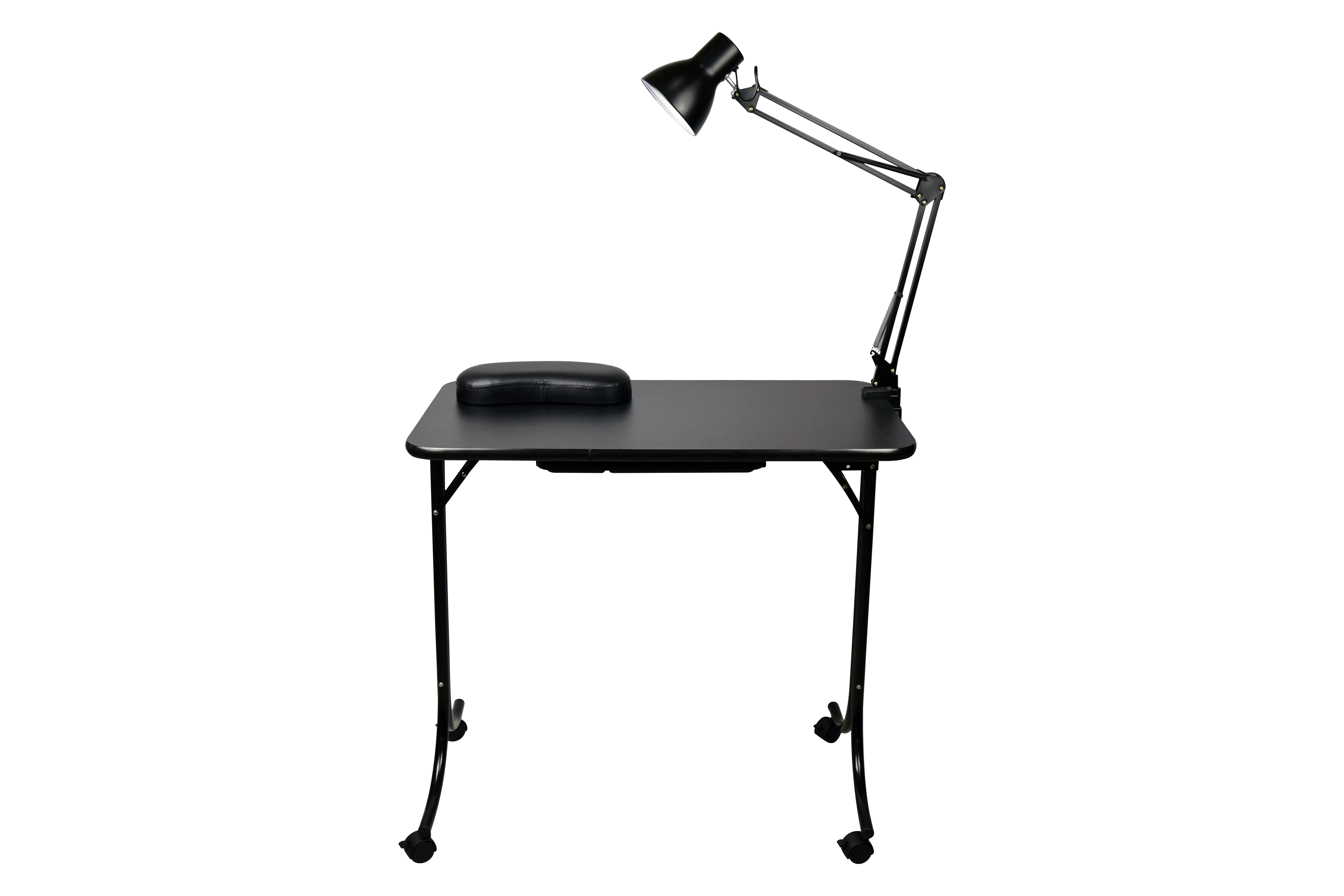 This Nt 003 Portable Manicure Table Is Lightweight Under 20lbs Folds Flat For Storage Or Carrying Comes With An Elegant Lamp Cl Ul Roved