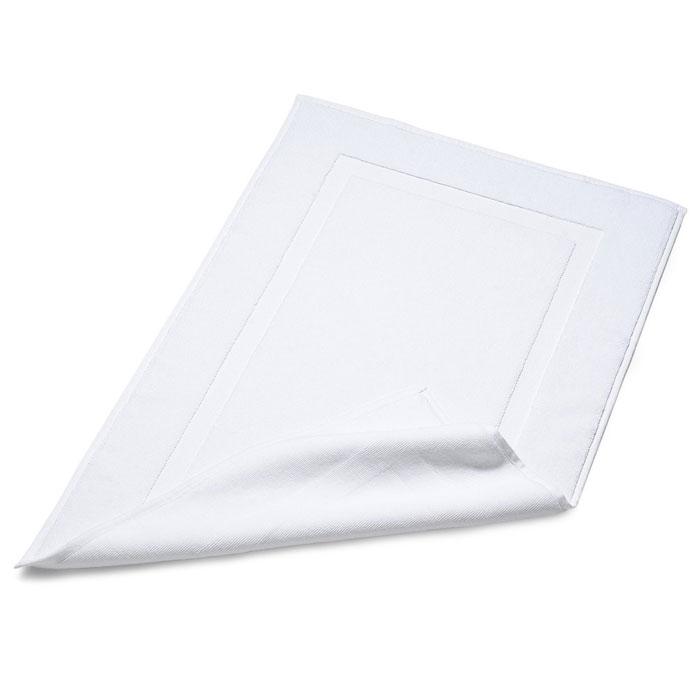 terry cotton bath mat white with cross border 20 x 30 fernanda 39 s beauty spa supplies. Black Bedroom Furniture Sets. Home Design Ideas
