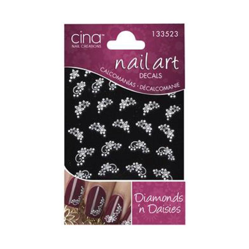 Cina Nail Art Decals Diamonds N Daisies No 133523